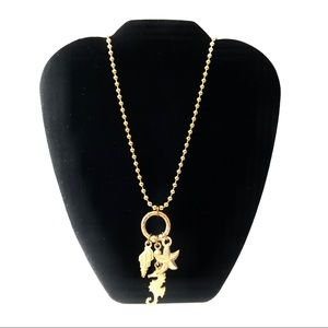 Starfish, Shell Gold Necklace